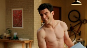max greenfield shirtless new girl